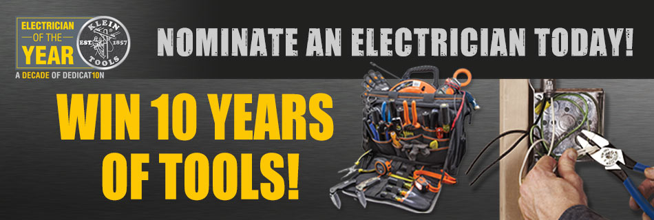 Klein Tools 2016 Electrician of the Year