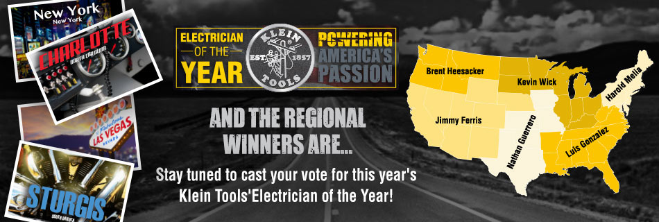 Klein Tools - 2017 Electrician of the Year - Regional Winners Announced