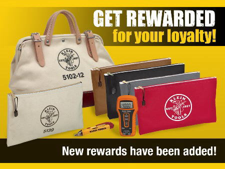 Klein Tools Loyalty Rewards - use your points to get free Klein gear!