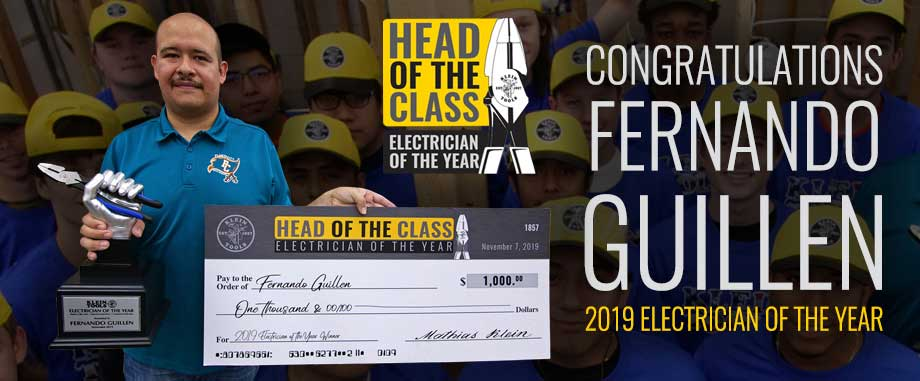Klein Tools 2019 Electrician of the Year - Nominate an Instructor Today!